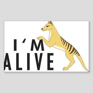 I'm Alive -- Thylacine Rectangle Sticker
