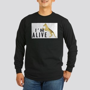 I'm Alive -- Thylacine Long Sleeve Dark T-Shirt