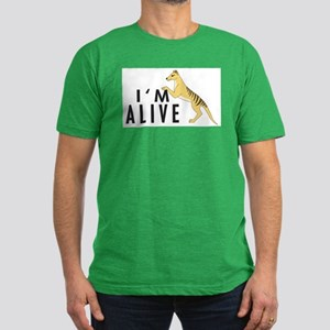 I'm Alive -- Thylacine Men's Fitted T-Shirt (dark)