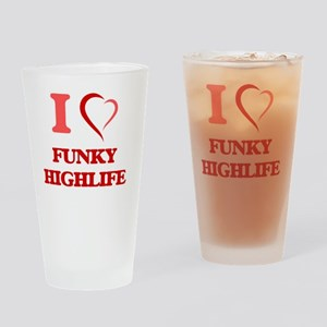 I Love FUNKY HIGHLIFE Drinking Glass