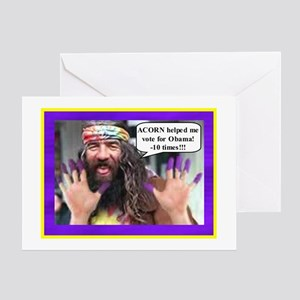 """ACORN Voter Fraud"" Greeting Card"