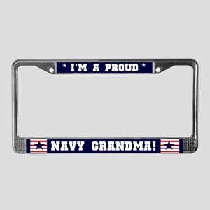 Proud Navy Grandma License Plate Frame