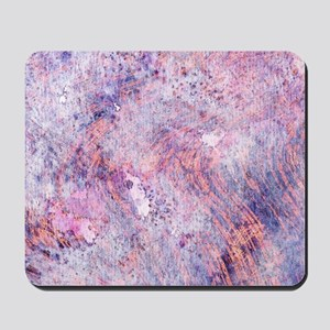 Pink and Purple Marble Watercolor Mousepad