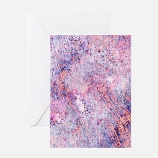 Pink and Purple Marble Watercolor Greeting Cards
