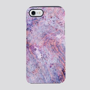 Pink and Purple Marble Waterco iPhone 7 Tough Case