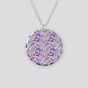 Just Believe Unicorn Mermaid Necklace Circle Charm
