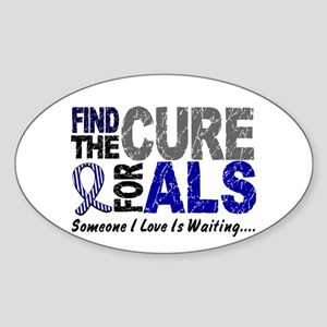 Find The Cure 1 ALS Oval Sticker