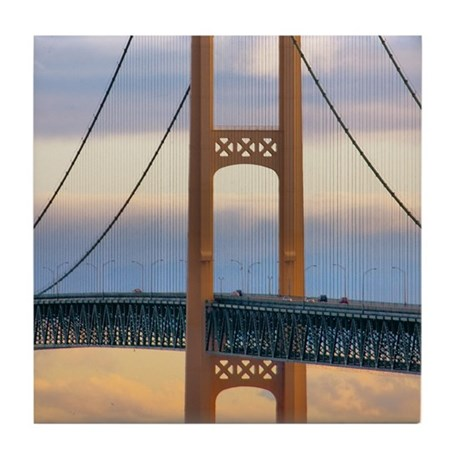 Mackinac Bridge #1083 Tile Coaster