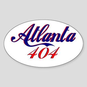 Atlanta 404 Oval Sticker