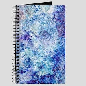 Aqua Blue Marble Watercolor Journal