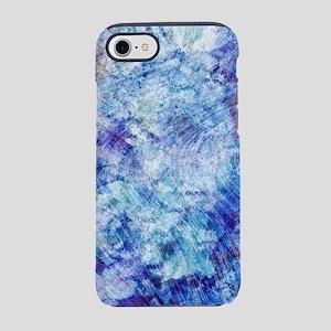 Aqua Blue Marble Watercolor iPhone 7 Tough Case