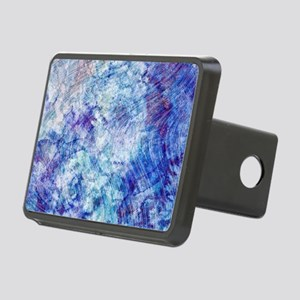 Aqua Blue Marble Watercolo Rectangular Hitch Cover
