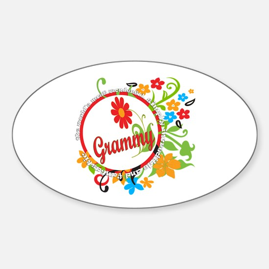 Wonderful Grammy Oval Decal