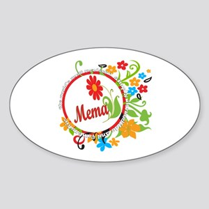 Wonderful Mema Oval Sticker