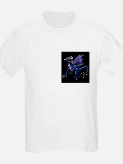 Blue Dragon At Night Kids T-Shirt