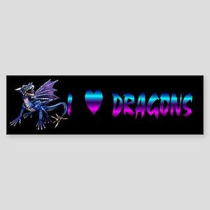 Blue Dragon At Night Bumper Sticker