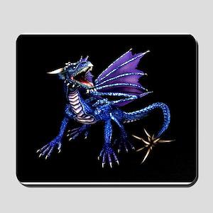 Blue Dragon At Night Mousepad