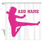 Personalized Karate Girl Shower Curtain