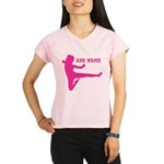 Personalized Karate Girl Performance Dry T-Shirt