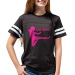 Personalized Karate Girl Youth Football Shirt