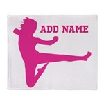 Personalized Karate Girl Throw Blanket
