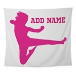 Personalized Karate Girl Wall Tapestry