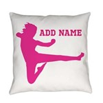 Personalized Karate Girl Everyday Pillow