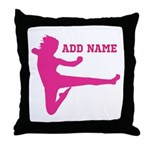 Personalized Karate Girl Throw Pillow