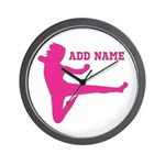 Personalized Karate Girl Wall Clock