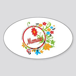 Wonderful Memaw Oval Sticker