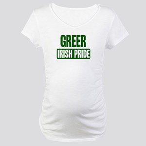 Greer irish pride Maternity T-Shirt