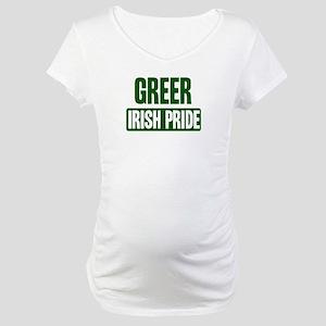 Greer irish pride Maternity T-Shirt