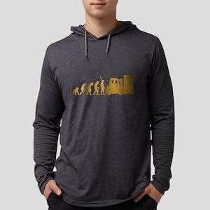 Forklift Operator Mens Hooded Shirt