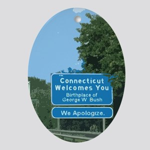 Connecticut Apology Oval Ornament