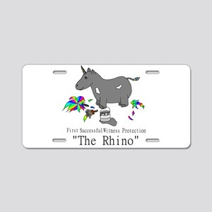 Witness Protection Unicorn/ Aluminum License Plate