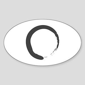 Enso - Zen Circle Oval Sticker