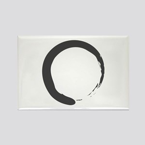 Enso - Zen Circle Rectangle Magnet