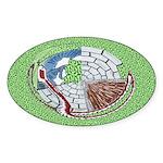 Castle Serpent Oval Sticker
