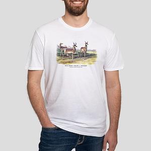 Audubon Pronghorn Antelope Fitted T-Shirt