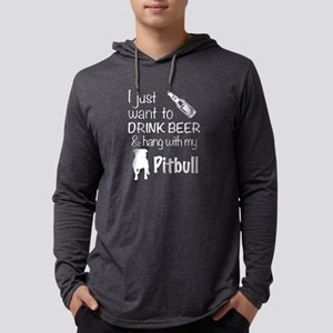 Beer And Pit Bull T Shirt Long Sleeve T-Shirt