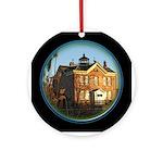 Saugerties Lighthouse Ceramic Round Ornament