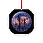 Hudson Valley Sunset - Ceramic Round Ornament