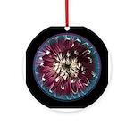 Magic Dahlia Ceramic Round Ornament
