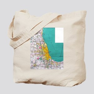New Chicago Map Tote Bag