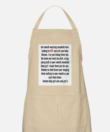 Got hot meatballs apron