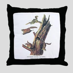 Audubon Flying Squirrel Throw Pillow