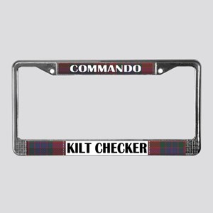 Commando Kilt Checker! License Plate Frame