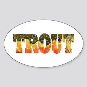 Brook TROUT Oval Sticker