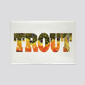 Brook TROUT Rectangle Magnet