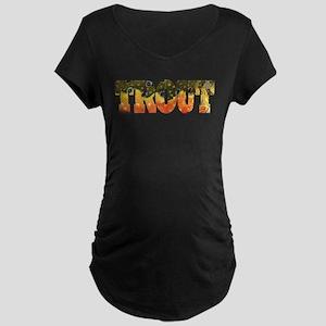 Brook TROUT Maternity Dark T-Shirt